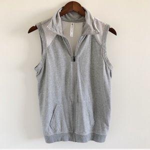 Fabletics Temecula Gray Mesh Vest Size Small
